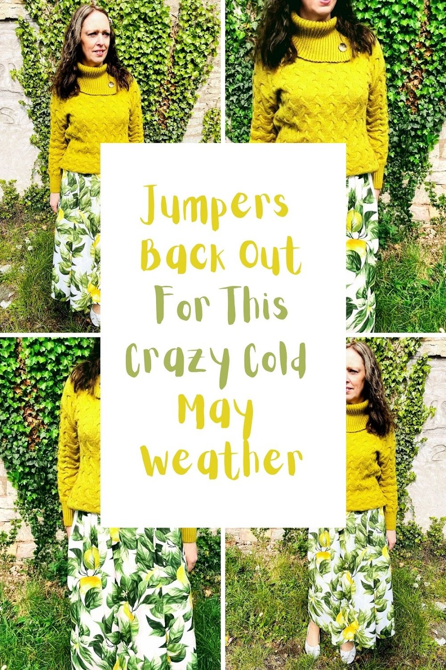 Jumpers Back Out For This Crazy Cold May Weather