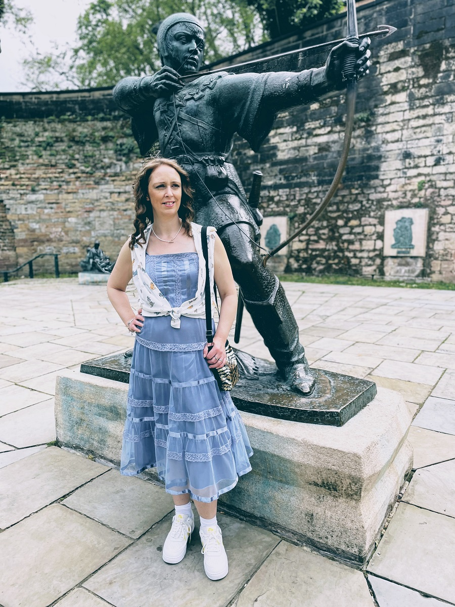 Nottingham Castle And The Robin Hood Statue