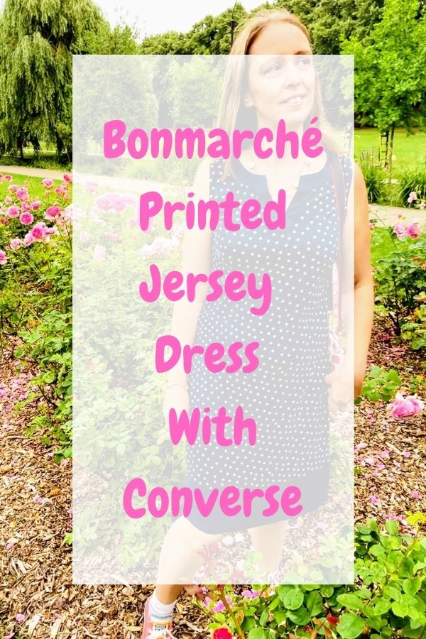 Bonmarché Printed Jersey Dress With Converse