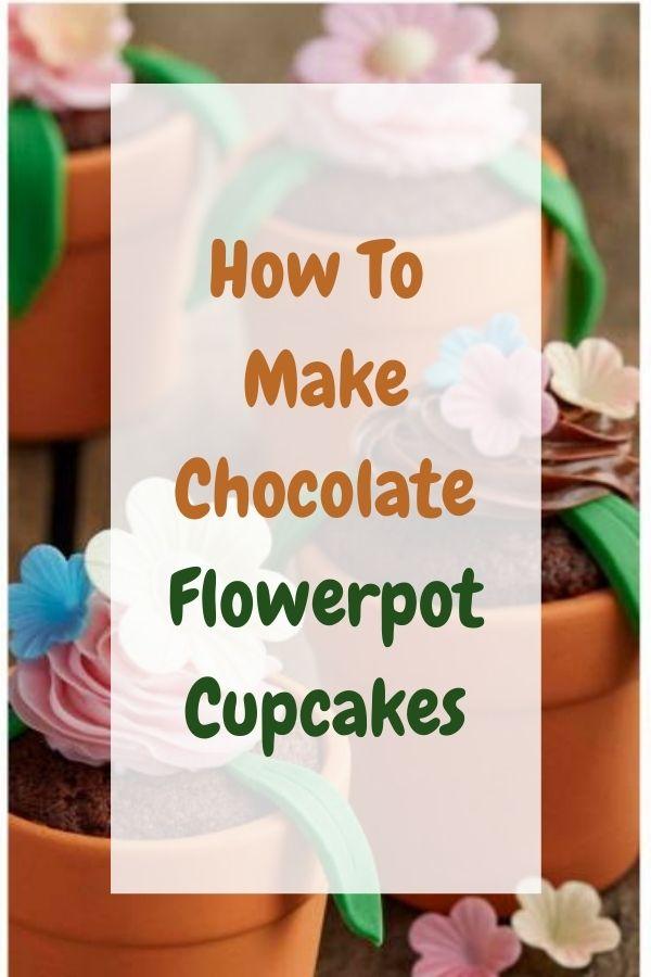 Chocolate Flowerpot Cupcakes