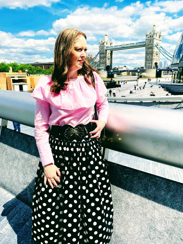 Pink Top, Polka Dots Skirt And A Day Out In London