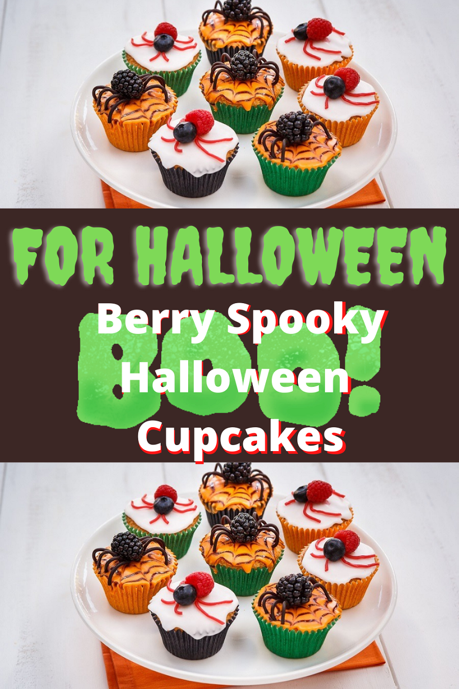 Berry Spooky Halloween Cupcakes: Scary Party Food
