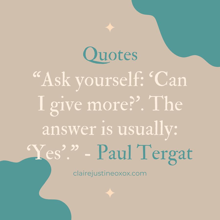 Paul Tergat Quote