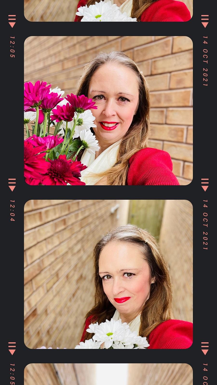 Dark Red Jumper Dress To Match My Flowers
